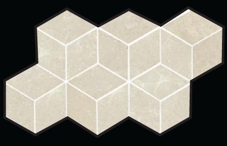 3D Hex Mosaic 7×12 Sheet Beige Polished