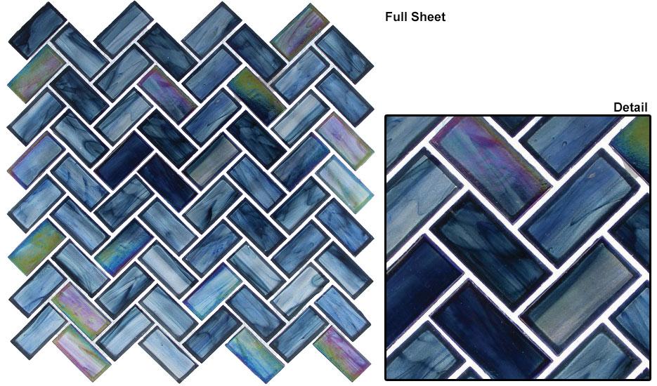 Cobalt Sea (1×2 Herringbone)