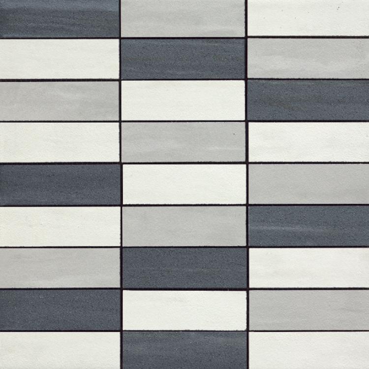 Cremo Nero Brick Gr Ne Bi Mix Semi-Polished 1.2×4 (12×12 Sheet)