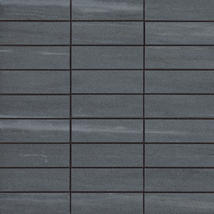 Cremo Nero Brick Semi-Polished 1.2×4 (12×12 Sheet)