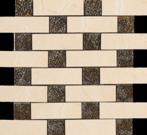 Brick Deco Mosaic 12.6×12.6 SemiPolished