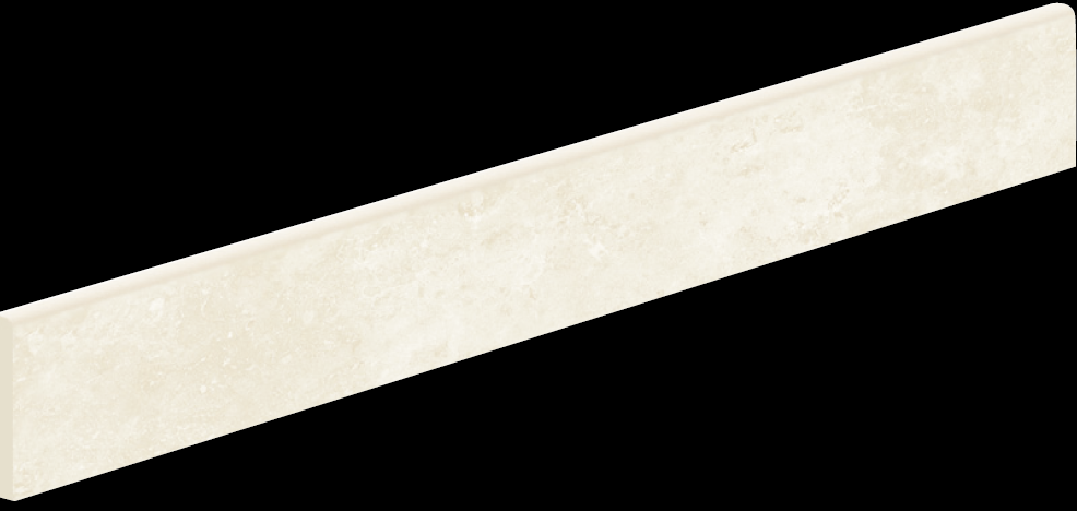 Ivory Semi-Polished Bullnose 3,8×20