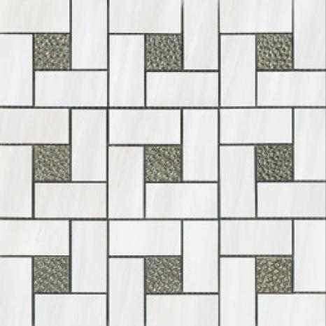 White Pinwheel Deco
