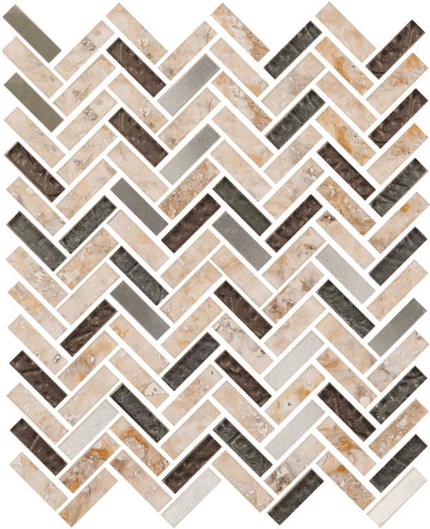 Imagination Herringbone Platinum Ravine