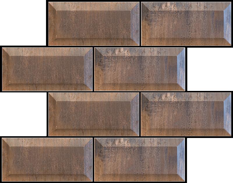 Metallix Miscellaneous Designs – Antique Copper Antique Copper Beveled Edge 3 x 6Brick