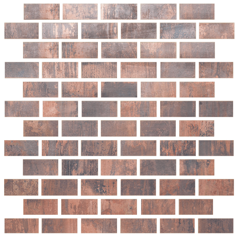Metallix Miscellaneous Designs – Antique Copper Antique Copper Brickset Mosaic 1×2