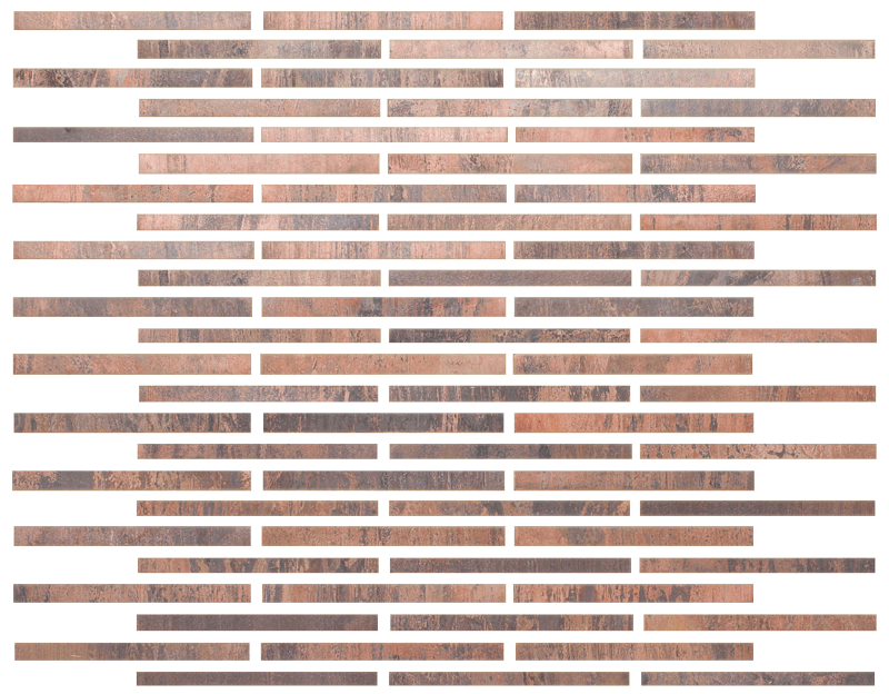 Metallix Miscellaneous Designs – Antique Copper Antique Copper Brickset Mosaic 3.8×4