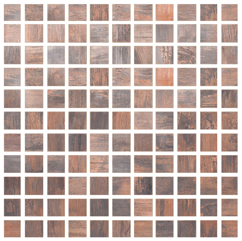 Metallix Miscellaneous Designs – Antique Copper Antique Copper Mosaic 1X1