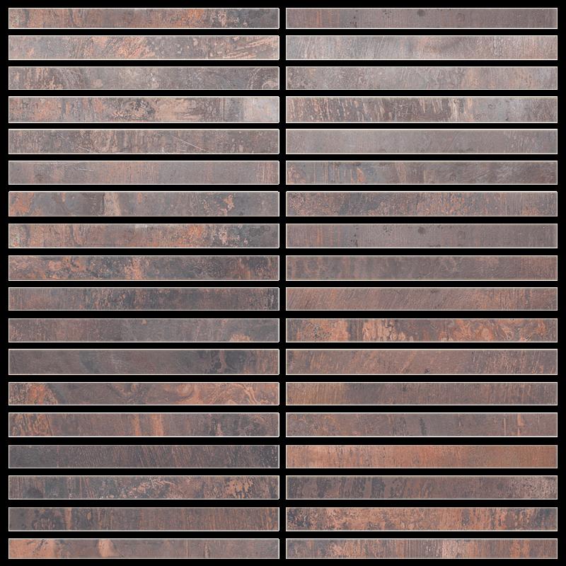 Metallix Miscellaneous Designs – Antique Copper Antique Copper Straight Stack Mosaic