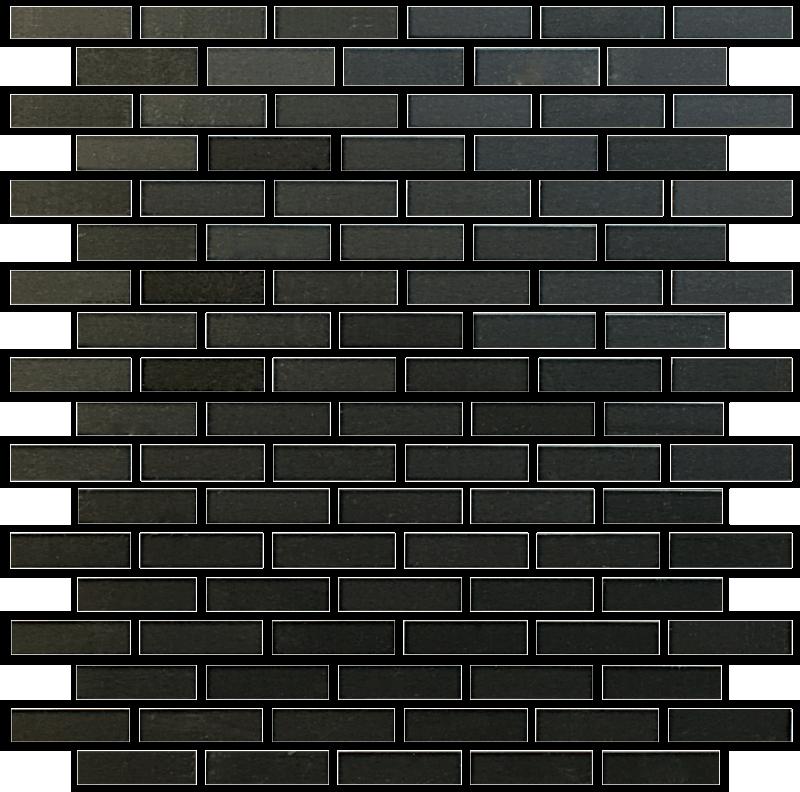 Metallix Miscellaneous Designs – Brushed Gun Metal Gun Metal Brickset Mosaic 5.8×2