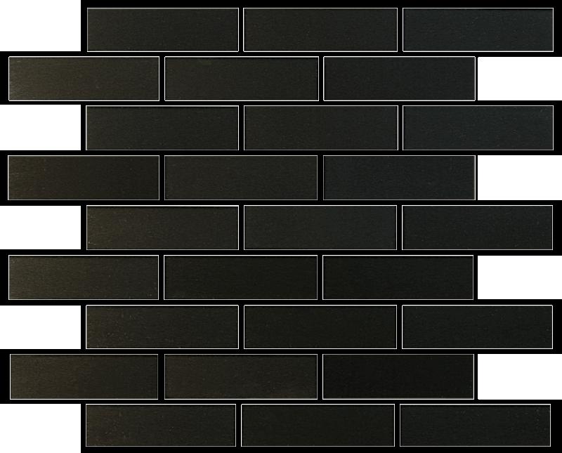 Metallix Miscellaneous Designs – Brushed Gun Metal Gun Metal Brickset Mosaic