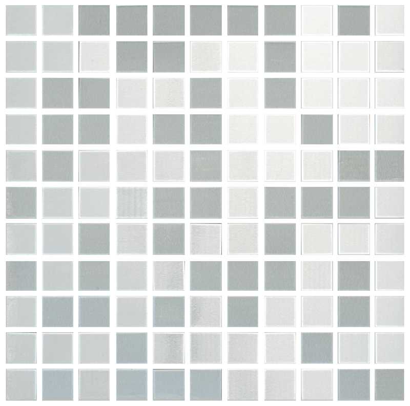 Metallix Miscellaneous Designs – Stainless SteelBrushed Stainless Steel Mosaic 1×1