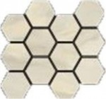 Bardiglio Crema Polished Hexagon Mosaic 12 X 14 Sheet