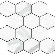 Blast Statuario Hexagon Mosaic 12 X 12 Sheet