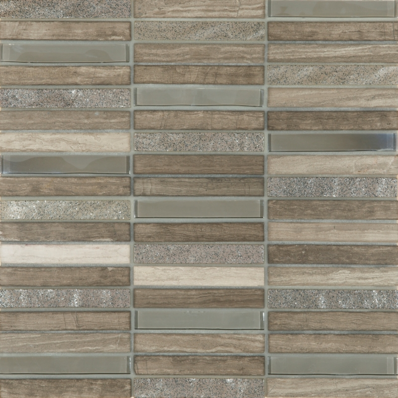 Cordoba Grey Linear 0.6 x 4 Mosaic 12 x 12 Sheet