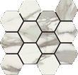 Italia Polished Hexagon Mosaic 12 X 14 Sheet