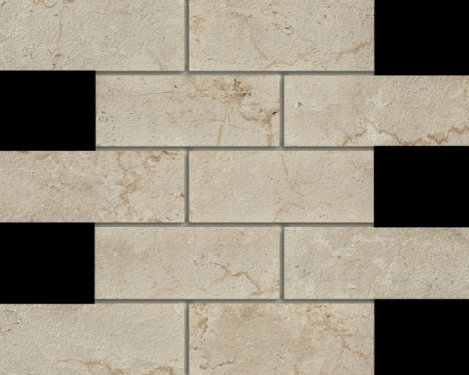 Marmi Botticino 2 X 6 Mosaic 12 X 12 Sheet