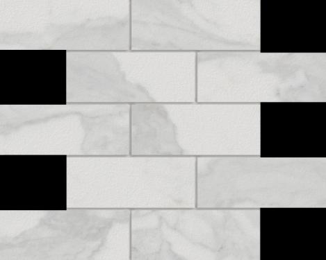 Marmi Calacatta 2 X 6 Mosaic 12 X 12 Sheet
