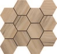 Paint Stone Beige Hexagon Mosaic 12 X 13 Sheet