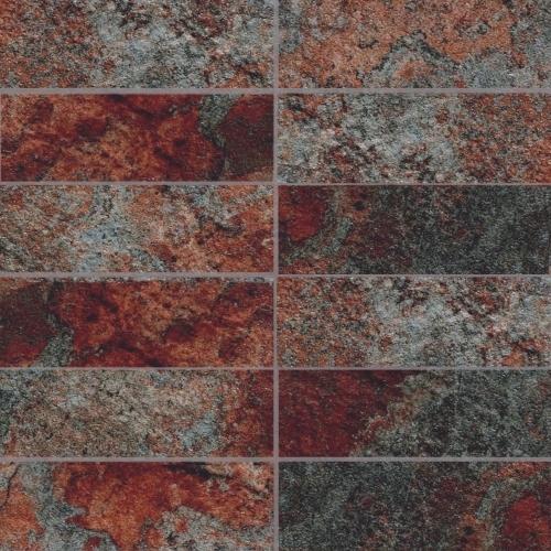 Phoenix Rainbow 2 X 6 Mosaic 12 X 12 Sheet