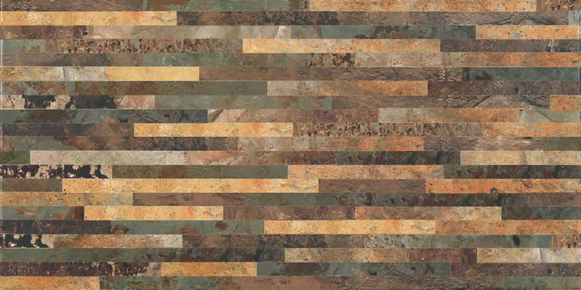 Slate Mix (Multi + Gold + Brown) 12 X 24 Muro