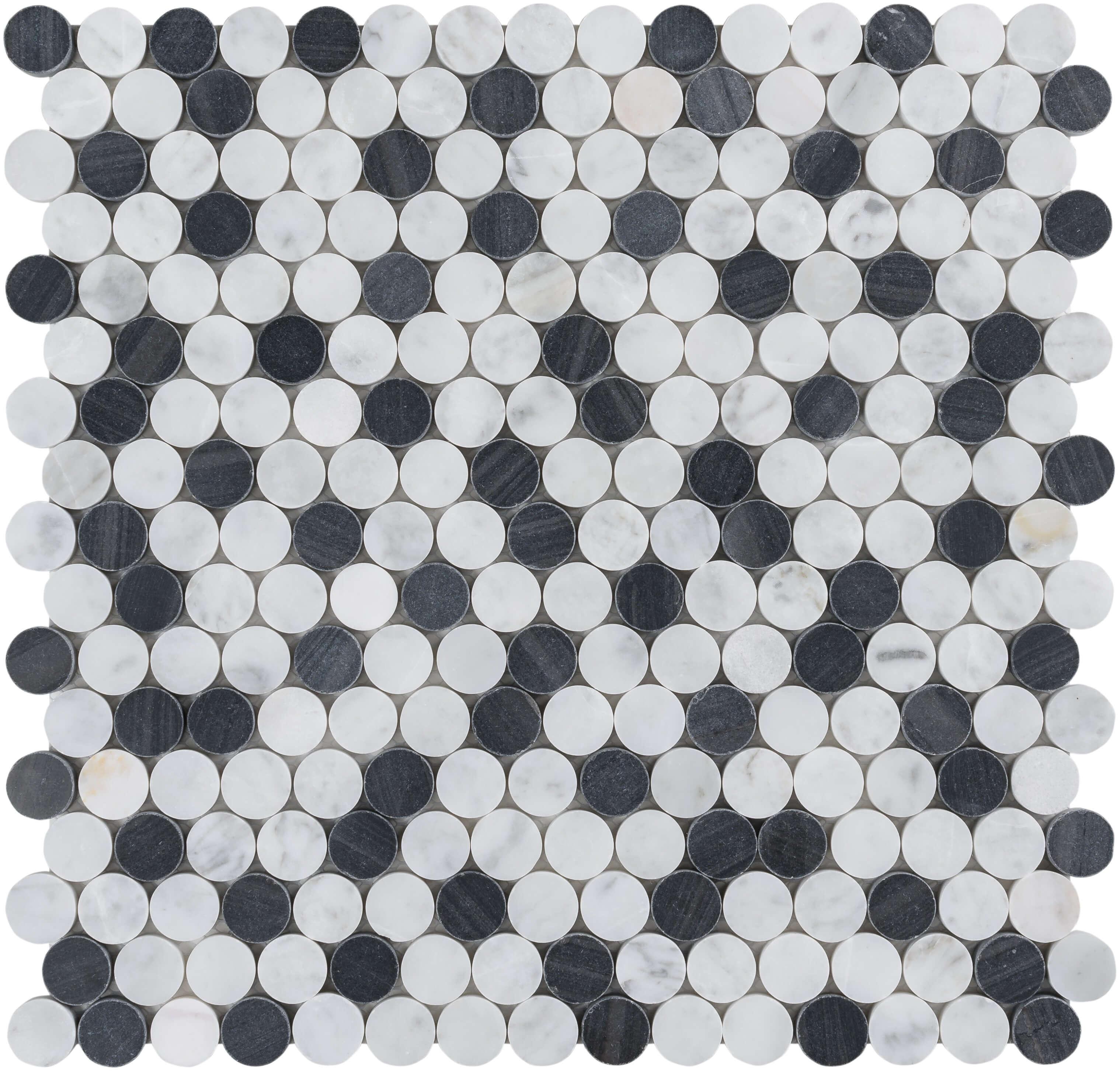 Black n White Button Field