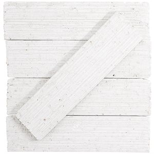 Urban Brick Stroke – White Polished
